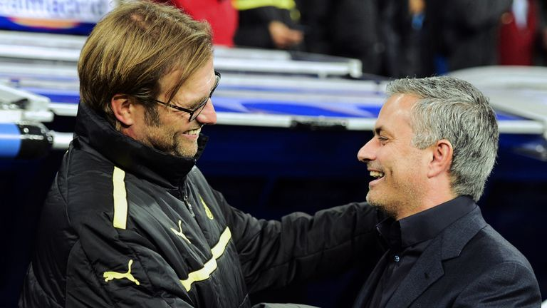 Jurgen Klopp has three wins from five matches against Jose Mourinho