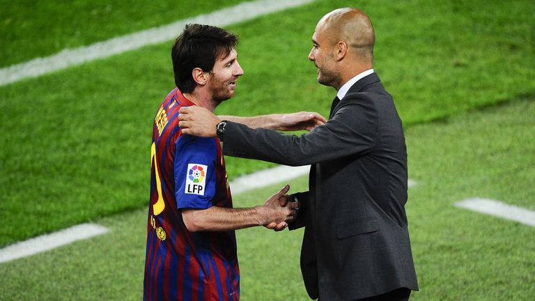 Pep Guardiola managed Lionel Messi at Barcelona