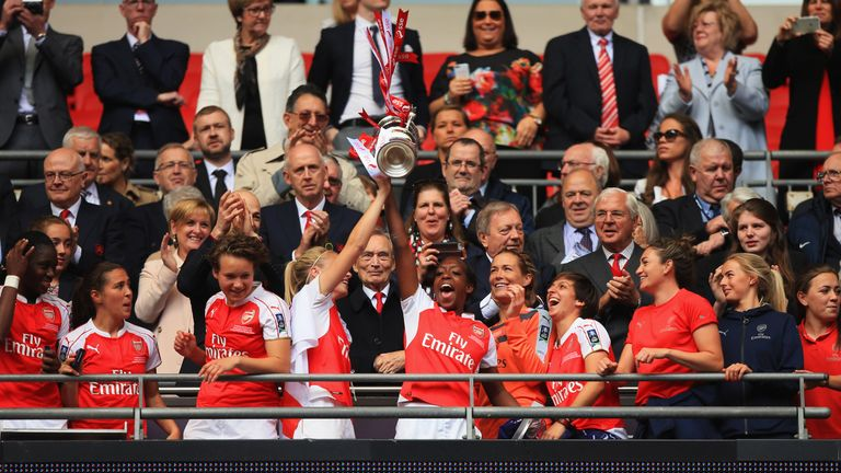 Arsenal lifted the Women's FA Cup for a record 14th time earlier this year