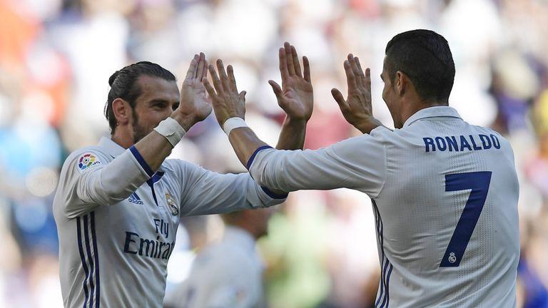 Gareth Bale and Cristiano Ronaldo celebrate