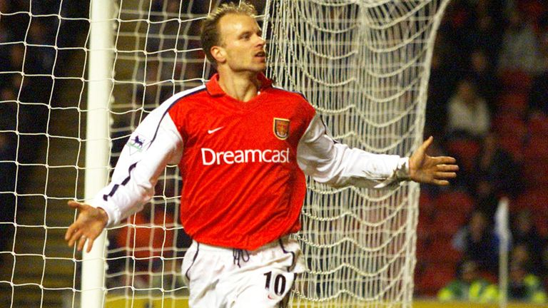 Dennis Bergkamp has a statue outside Arsenal's Emirates Stadium