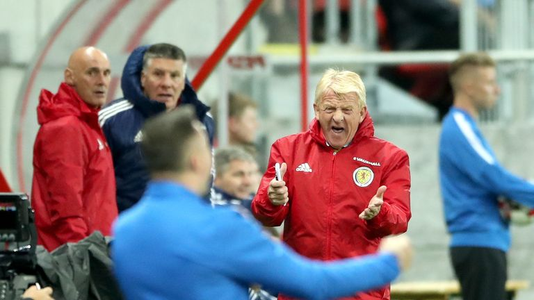 Strachan shows his anger as Scotland lose in Slovakia
