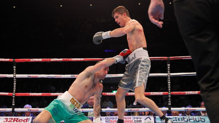 Luke Campbell puts Derry Mathews on the floor to retain his WBC Silver title
