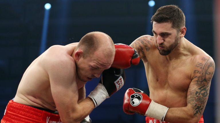 Eddie Hearn wants Juergen Braehmer (left) to rematch Nathan Cleverly in Wales