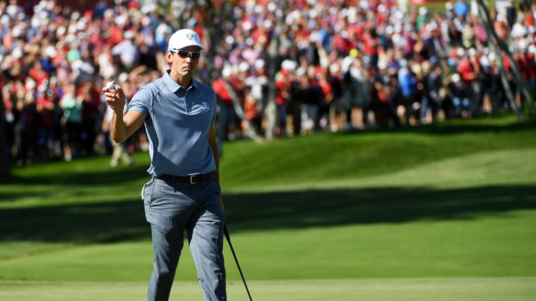Cabrera Bello saw off Jimmy Walker 3&2 in the Sunday singles
