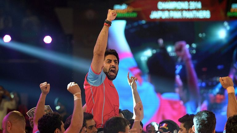 Bollywood actor Abhishek Bachchan also owns Pro Kabaddi team Jaipur Pink Panthers