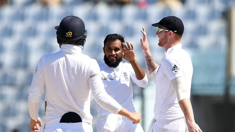 Bob Willis doesn't think Adil Rashid (C) should play in the first Test in India