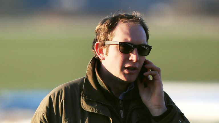 Trainer Ben Pauling at Bangor-On-Dee Racecourse