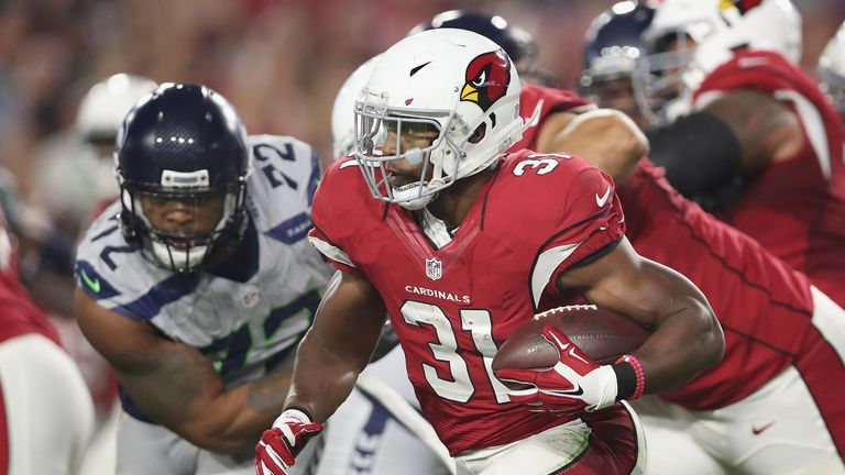 Running back David Johnson returns for the Cardinals after a year out to injury