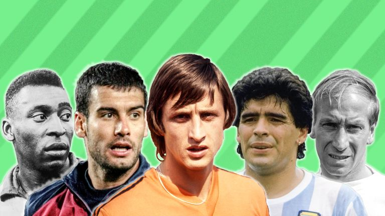 Johan Cruyff's all-time best XI has been named in his autobiography
