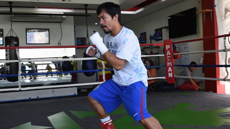 Pacquiao is returning to the ring after a seven-month hiatus