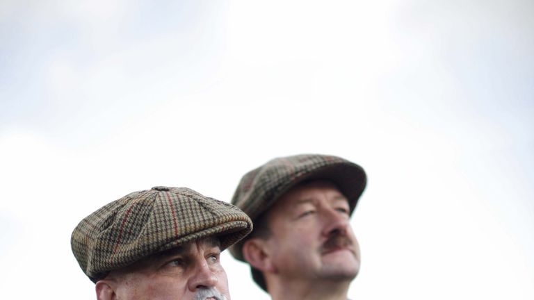 Eddie and Stevo dress up in clothes from 1907 to commemorate New Zealand's first tour to England