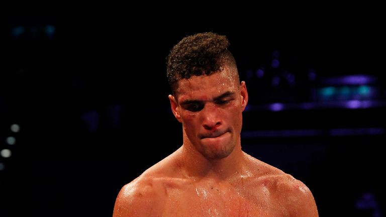 Anthony Ogogo cuts a desolate figure following defeat