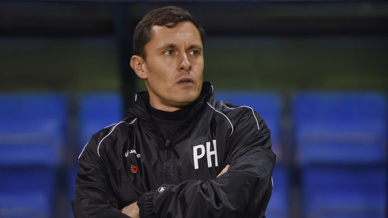 Shrewsbury Town manager Paul Hurst