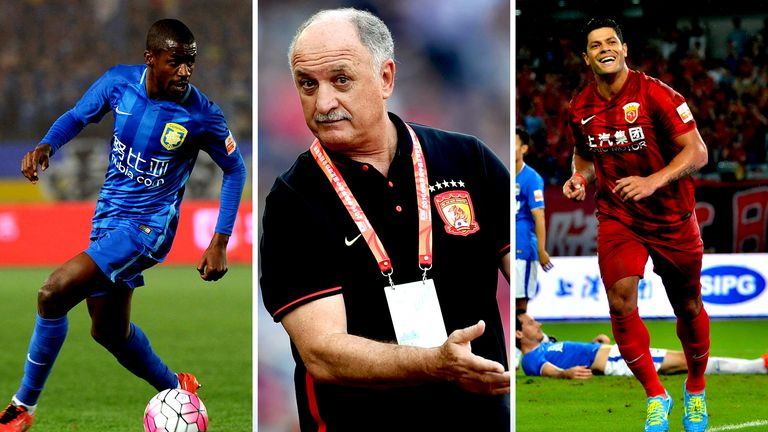 Ramires, Luiz Felipe Scolari and Hulk have all been in action in the Chinese Super League