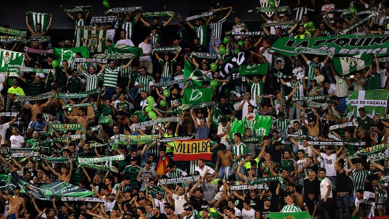 Real Betis eased their relegation fears with a win at Malaga
