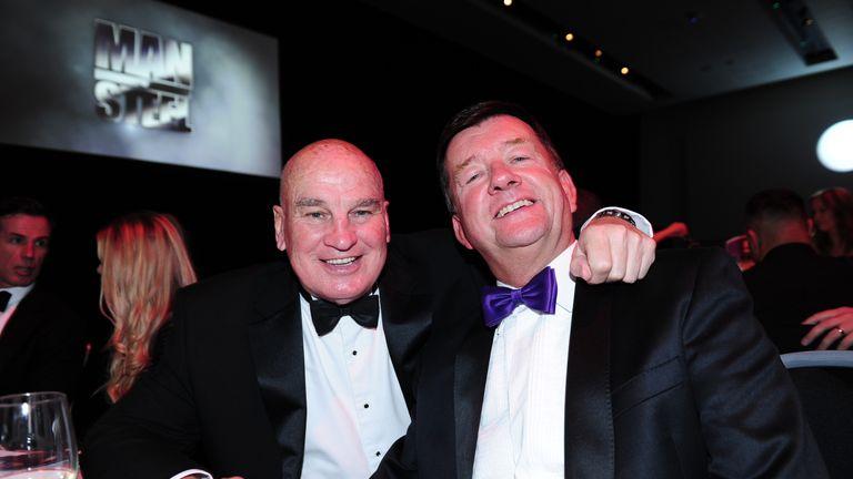 Eddie Hemmings and Mike Stephenson at the 2016 Man of Steel awards