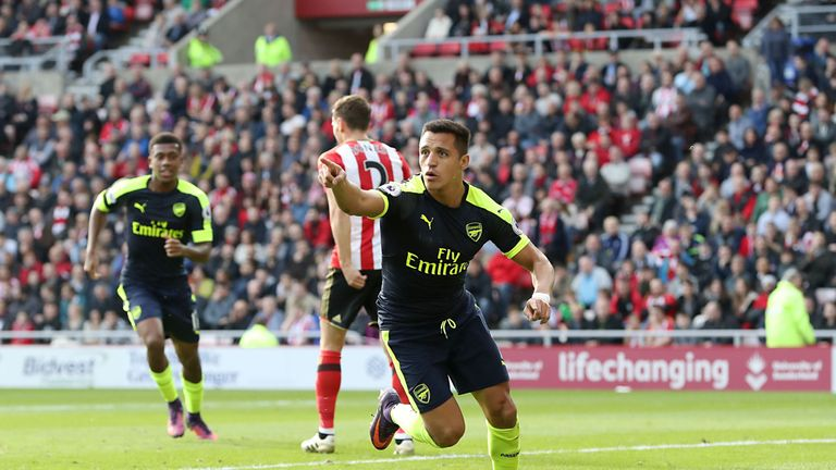 Sanchez has scored eight goals for Arsenal so far this season