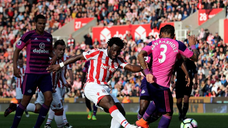 Wifried Bony performed well at the Bet365 Stadium, but still awaits his first Stoke goal since arriving on loan