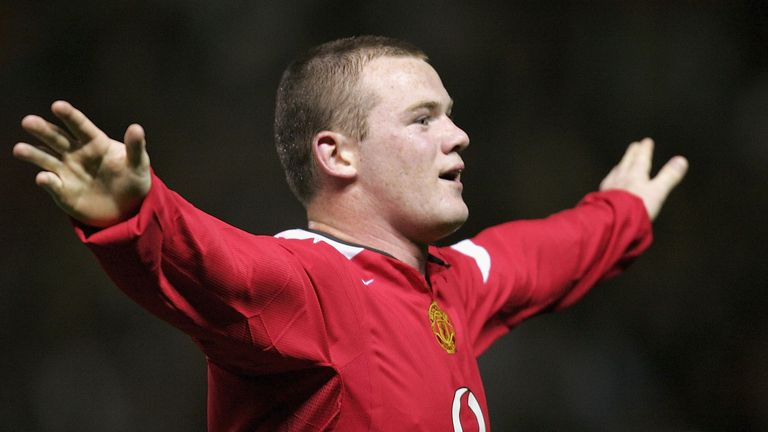 Rooney scored a hat-trick on his Manchester United debut against Fenerbahce in 2004