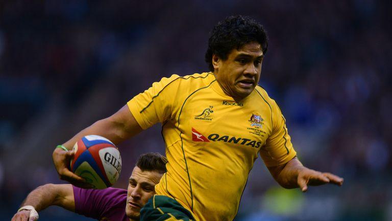 Tapuai in action for Australia against England at Twickenham