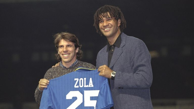 Ruud Gullit was the manager who helped bring Zola to Chelsea