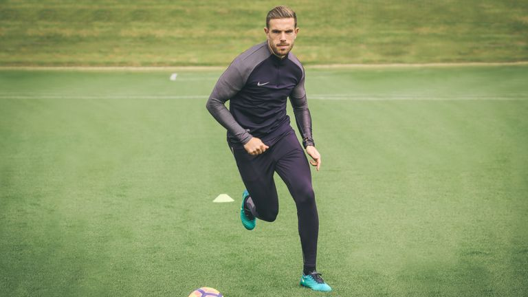 Henderson at work in Nike Football's new training apparel
