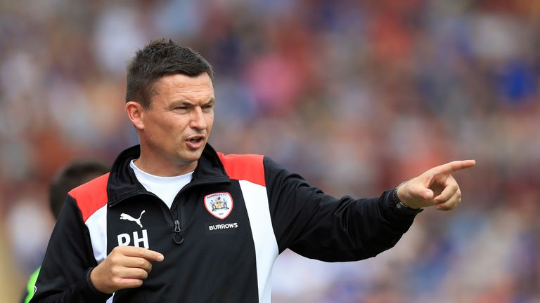 Barnsley boss Paul Heckingbottom was sent to the stands