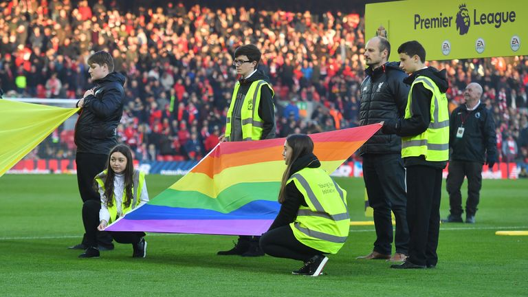 The football community will unite behind the Rainbow Laces campaign