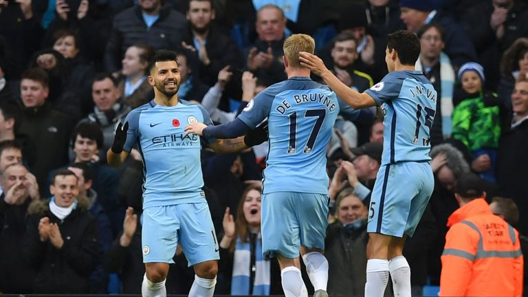 Sergio Aguero was rested for Argentina in midweek