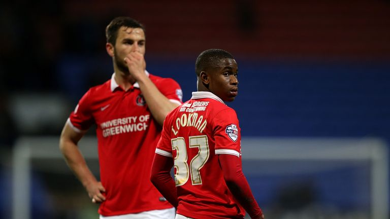 Lookman (right) has scored seven goals for Charlton this season