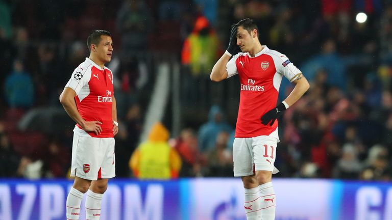 Alexis Sanchez and Ozil both have just over a year left on their respective Arsenal deals