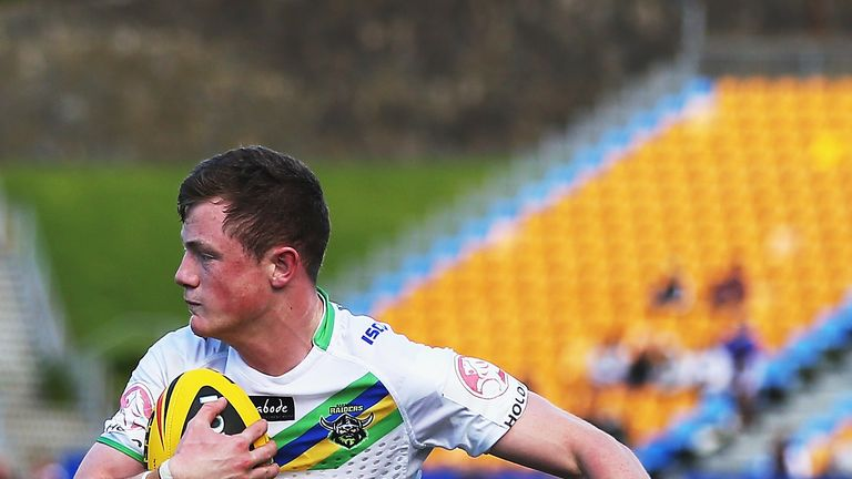 Andrew Heffernan during his time with Canberra Raiders