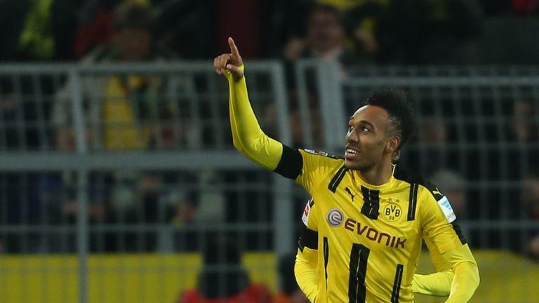 Pierre Emerick-Aubameyang was on target for Borussia Dortmund