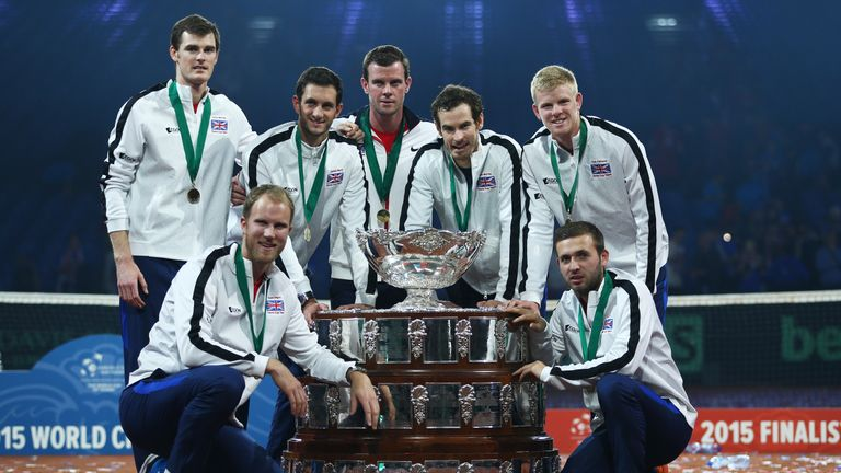 Murray led Great Britain to Davis Cup glory in 2015