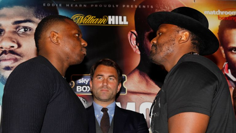 Dillian Whyte and Dereck Chisota face-off