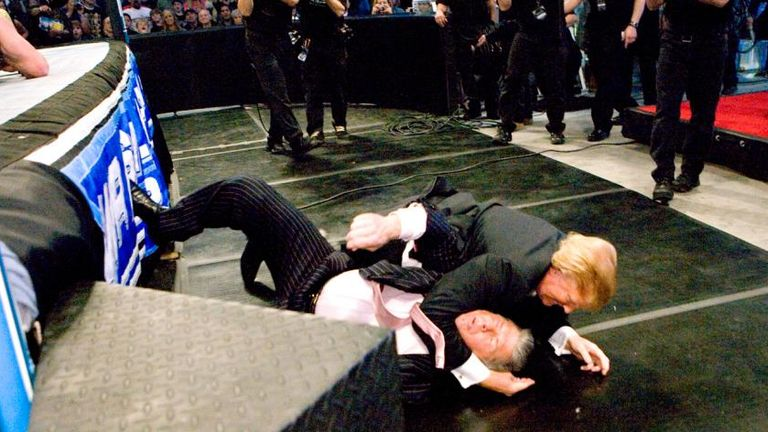 Trump takes down rival McMahon