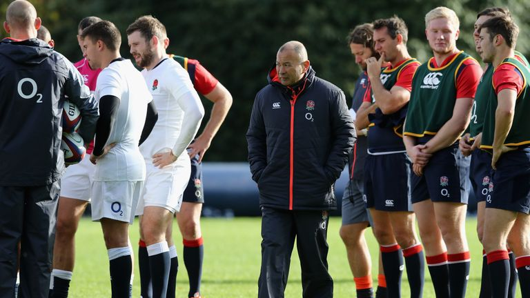 Eddie Jones is looking to guide England to a 16th consecutive win