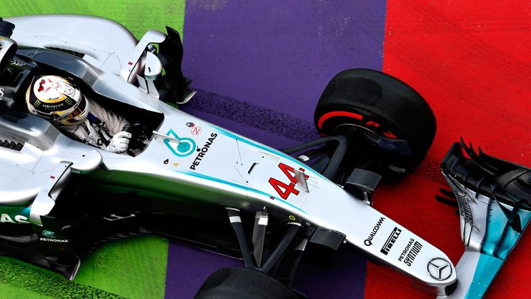A dash of colour from the Mercedes at the European GP - Picture from Getty Images