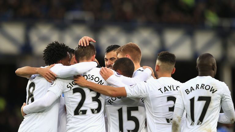 Gylfi Sigurdsson converted his penalty in the first half to give Swansea the lead