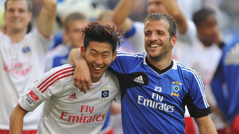 Son's former Hamburg team-mate Rafael van der Vaart predicted he'd be a success at Tottenham