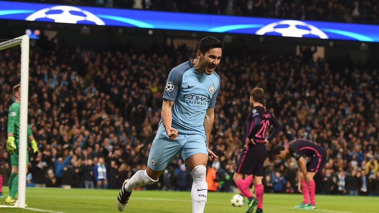 Man City's biggest win of the season - a 3-1 success over Barcelona - saw them start with a 4-1-4-1
