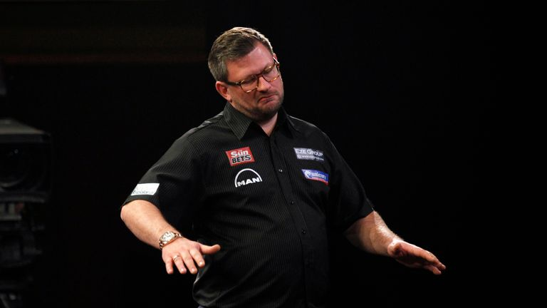 James Wade let an early lead slip away