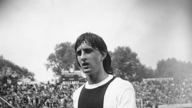 Dutch legend Johan Cruyff helped Ajax secure the record in 1972