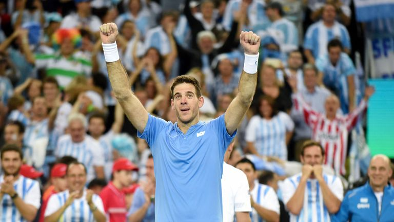 Del Potro helped secure a first Davis Cup title for Argentina