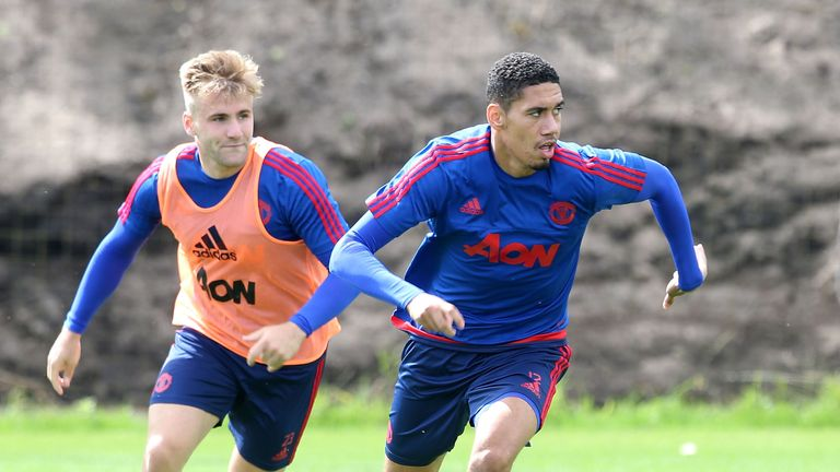 Luke Shaw and Chris Smalling both missed United's clash with Swansea City on Sunday