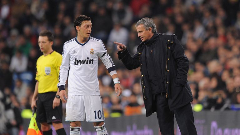 48ade291316 Mesut Ozil (left) claims Jose Mourinho tore into him for a lack of effort