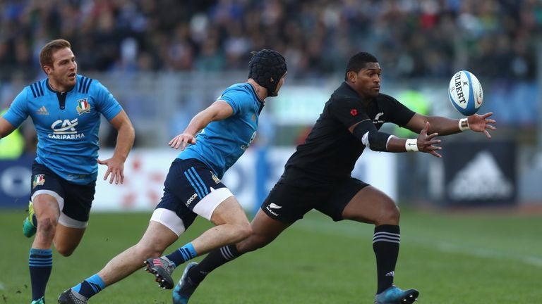 Waisake Naholo scored one of New Zealand's 10 tries