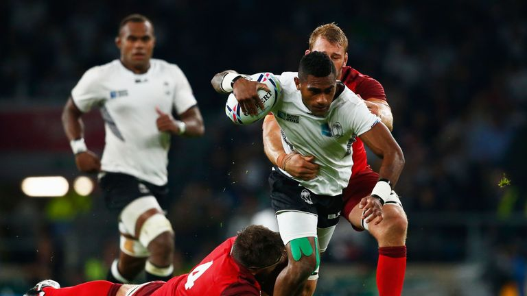 Niko Matawalu featured for Fiji against England in the 2015 Rugby World Cup