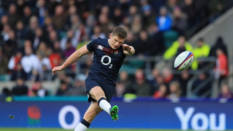 Owen Farrell provided 17 points with the boot
